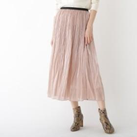 ドレステリア(レディス)(DRESSTERIOR Ladies)/分繊サテンワッシャープリーツスカート