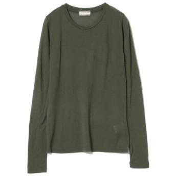 (BEAMS WOMEN/ビームス ウィメン)Ray BEAMS High Basic/スクープネック ロングスリーブ Tシャツ/レディース OLIVE 送料無料