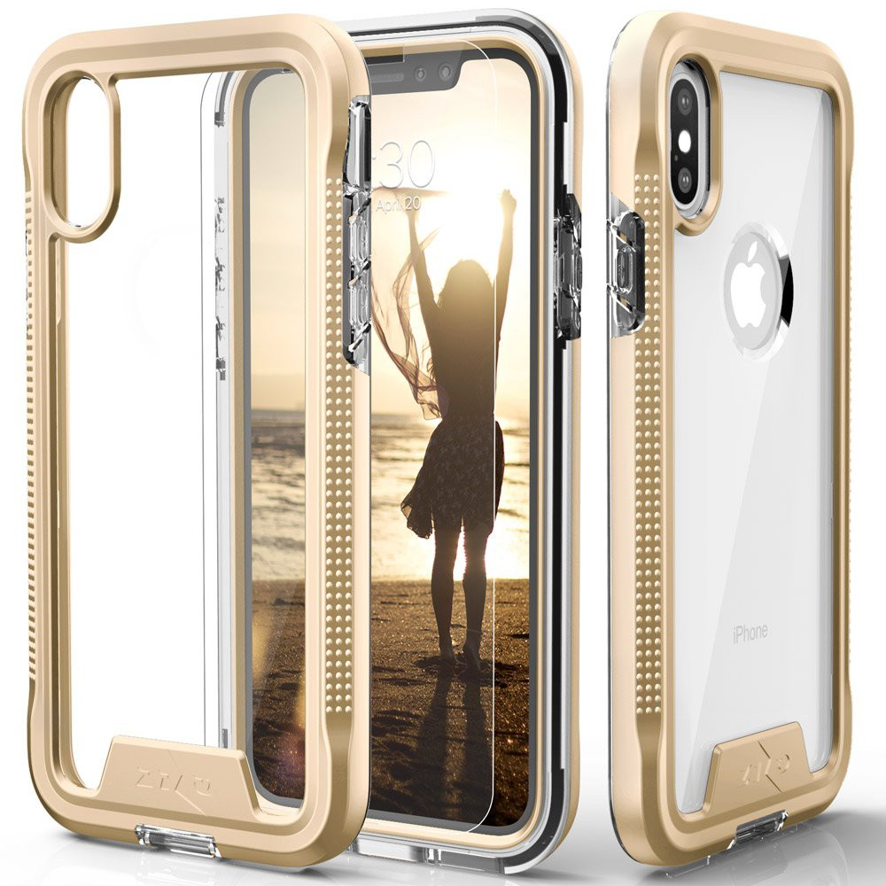 Zizo ION外殼與Zizo Wireless Qi Charger相容Minimalist Beauty: A transparent case with a color-rich bumper