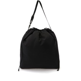 ATTACHMENT CRAMSHELL DRAWSTRING TOTEBAG トートバッグ,BLACK