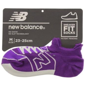 [返品・交換不可] ニューバランス New balance 靴下 スニーカー柄ソックス SNEAKER FIT SOCKS パープル JASL8222-PRV