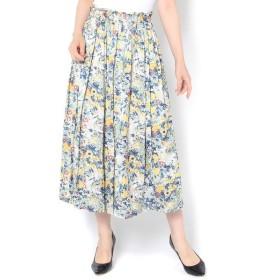 un dix cors / アンディコール 割繊フラワーギャザースカート