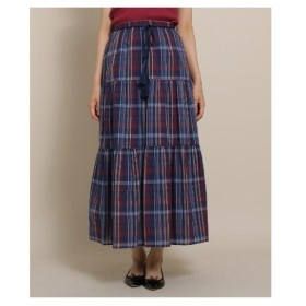 Bon mercerie(ボン メルスリー)ボイルローンティアードロングスカート
