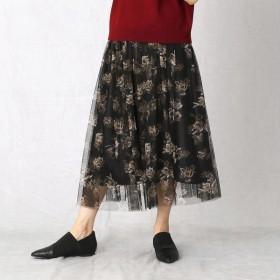 [マルイ] チュール花柄プリント ギャザースカート/コムサマチュア(Comme ca Mature)