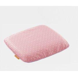媽咪小站【天然乳膠系列】嬰兒護頭枕 30*27*4cm 水玉粉【紫貝殼】