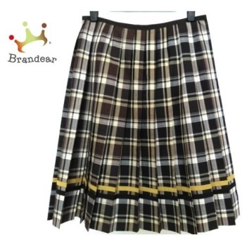 ロイスクレヨン Lois CRAYON スカート サイズM レディース ネイビー×白×マルチ チェック柄 新着 20190708