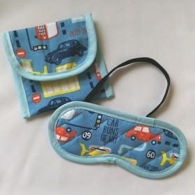 子供用 アイマスク ケース モンテッソーリ 幼児教育 車 乗り物 キルティング 幼稚園