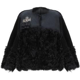 《期間限定 セール開催中》REDValentino レディース ブルゾン ブラック 42 羊革(ラムスキン) 100% / リアルファー / コットン / 金属繊維 / 合成繊維