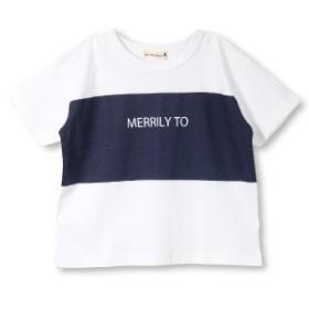 ブランシェス(branshes)/【プチプラ】切り替えプリント半袖Tシャツ