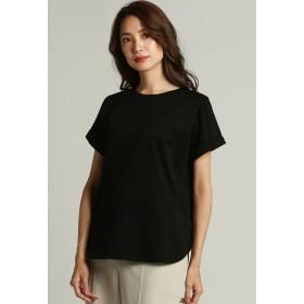 LAUTREAMONT 微光沢のあるなめらかなカットソー Tシャツ・カットソー,ブラック