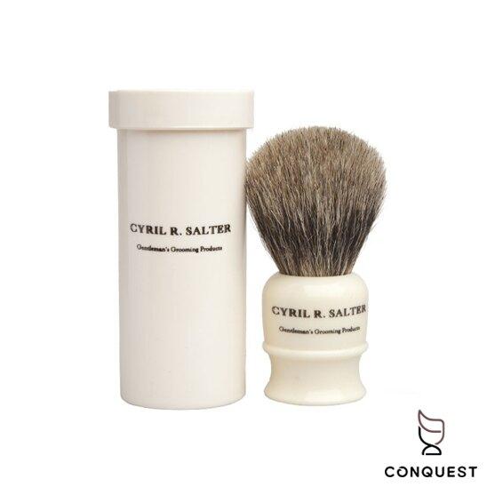 【 CONQUEST 】英國 Cyril R Salter 旅行獾毛刷 刮鬍刷 鬍刷 鬍泡刷 Shaving Brush