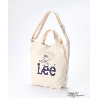 Lee 【ライトオン40周年記念限定モデル】スヌーピー2wayショルダートートバッグ ネイビー