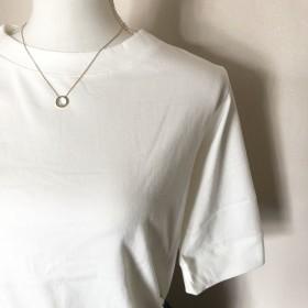 ホワイト生地入荷 コットン100 スカート 屋さんのこだわりシルエットT 五分袖