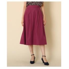 Couture Brooch(クチュールブローチ)【WEB限定サイズ(S・LL)あり/手洗い可】タフタタックフレアスカート