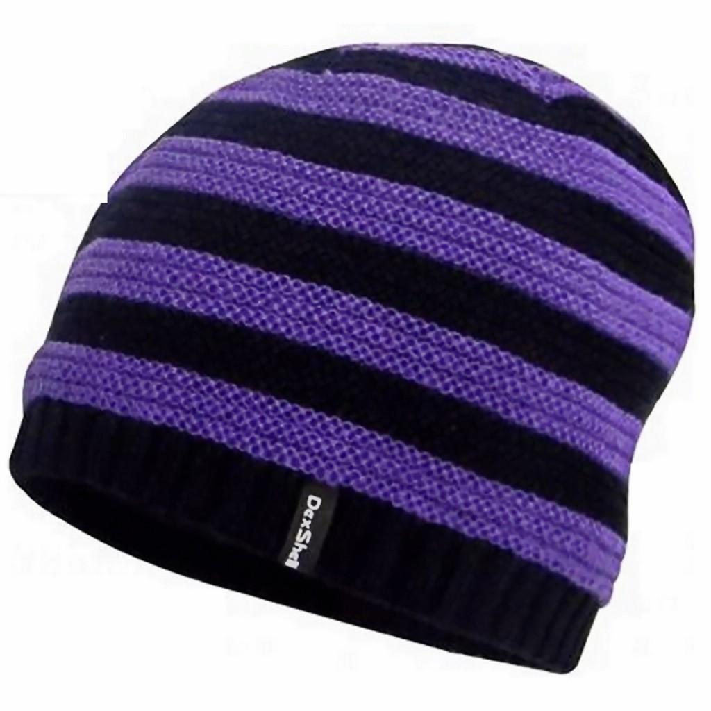 全系列買五送一 Waterproof Childrens Beanie Stripe 兒童防水條紋帽-微羊毛織物 紫色