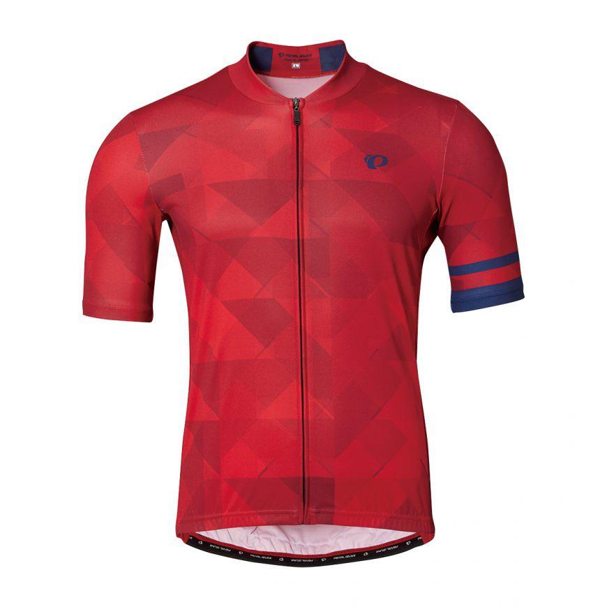 PEARL IZUMI 621-B-45 男性基本合身款短袖車衣(格紋紅)【7號公園自行車】