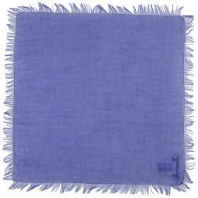《期間限定 セール開催中》CRUCIANI レディース スカーフ ブルー カシミヤ 70% / シルク 30%