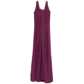 《セール開催中》ERIKA CAVALLINI レディース ロングワンピース&ドレス パープル 44 シルク 100%