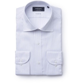 NEWYORKER 【NY CARE FREE】ナローストライプ/長袖ワイドカラードレスシャツ ドレスシャツ,サックス(73)