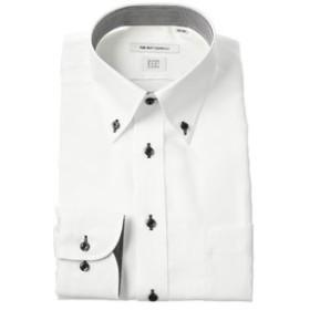 【THE SUIT COMPANY:トップス】【COOL MAX】ボタンダウンカラードレスシャツ 織柄 〔EC・FIT〕