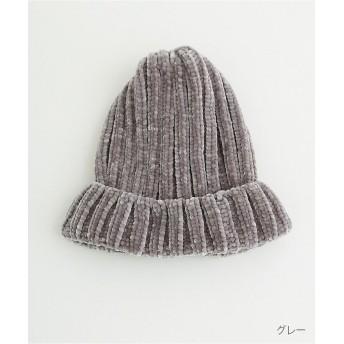 メルロー モールヤーンニット帽142 1437 レディース グレー FREE 【merlot】