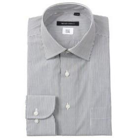【THE SUIT COMPANY:トップス】ワイドカラードレスシャツ ストライプ 〔EC・BASIC〕