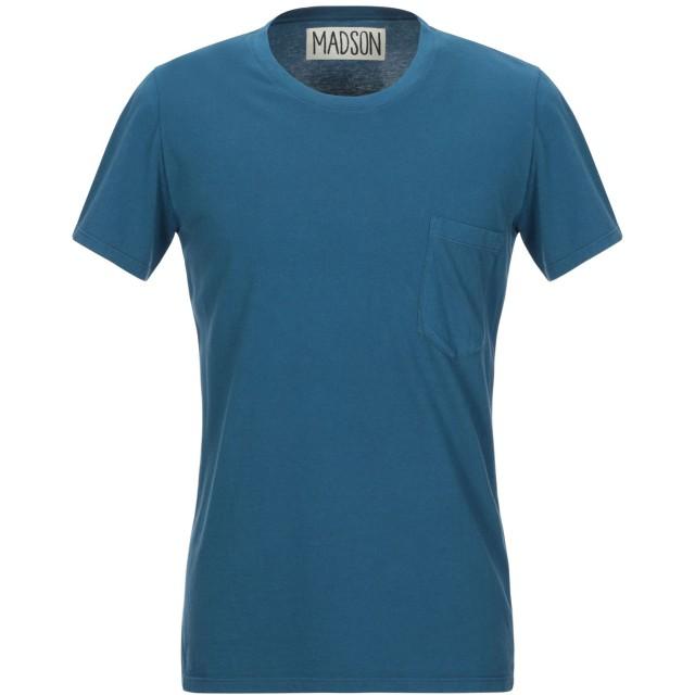 《期間限定セール開催中!》MADSON メンズ T シャツ ブルーグレー S コットン 100%