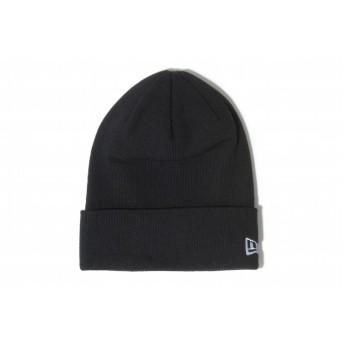 NEW ERA ニューエラ ベーシック カフ コットンブレンド ブラック ホワイトフラッグ ニット帽 ニットキャップ 無地 ニット 帽子 メンズ レディース ワンサイズ 11099939 NEWERA