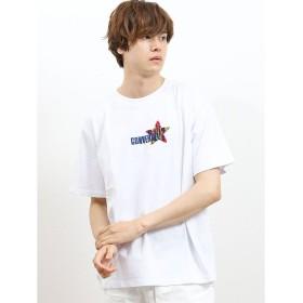 タカキュー コンバース/CONVERSE ロゴサガラ刺繍半袖Tシャツ メンズ ホワイト M 【TAKA-Q】