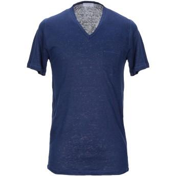 《セール開催中》GRAN SASSO メンズ T シャツ ダークブルー 48 麻 100%