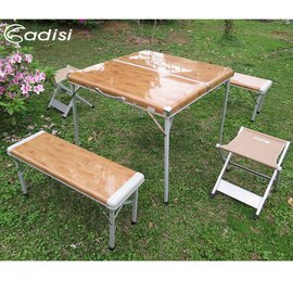 【鄉野情戶外專業】 ADISI |台灣|  竹風家庭組合桌椅 野餐露營休閒戶外桌椅_ AS15043
