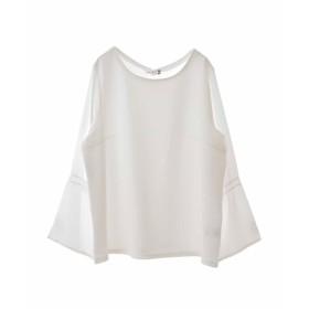 eur3 【大きいサイズ】キャンディースリーブカットソー Tシャツ・カットソー,ホワイト