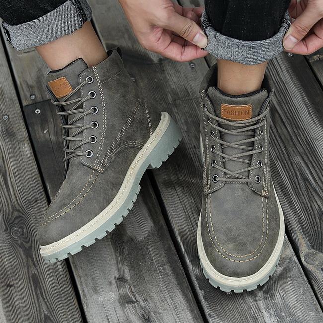FOFU-馬丁靴高筒簡約復古工裝靴子馬丁靴【08B-S0159】