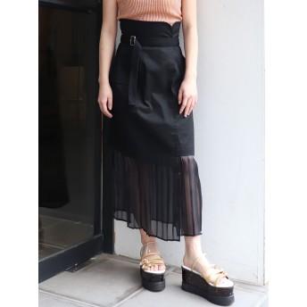プリーツスカート - MURUA ヘムシアープリーツラップスカート