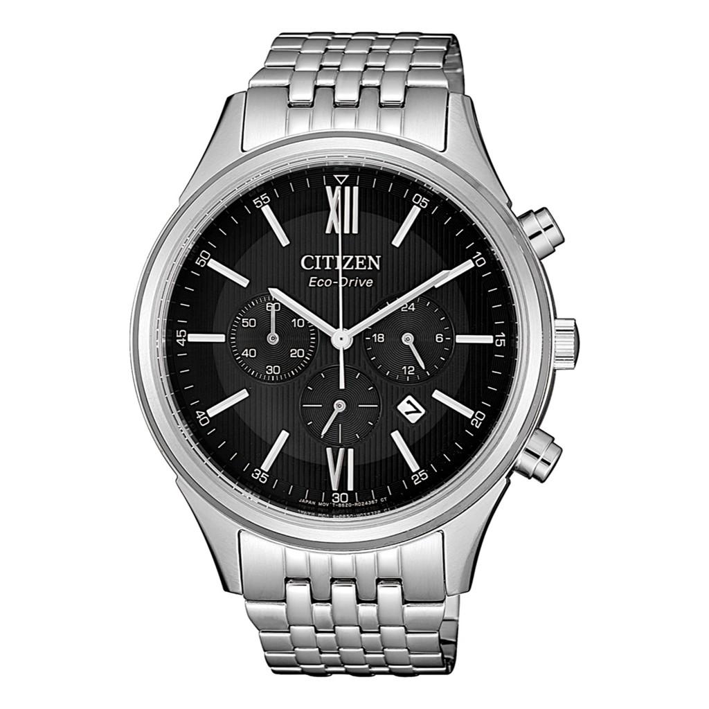 【CITIZEN 星辰】Eco-Drive腕錶紳士三眼計時腕錶-銀色(CA4410-84E)