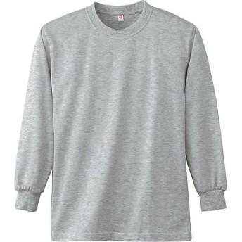 ワークウェア・作業用Tシャツ 小倉屋 長袖Tシャツ 杢グレー 4021-43-4L 1枚(直送品)