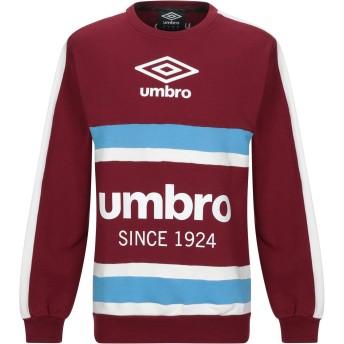 《9/20まで! 限定セール開催中》UMBRO メンズ スウェットシャツ ボルドー S コットン 100%