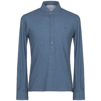 《期間限定セール開催中!》GRAN SASSO メンズ ポロシャツ ブルーグレー 48 コットン 100%