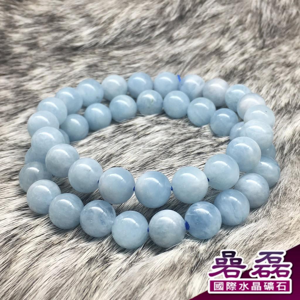 《碞磊國際》海水藍寶 幽藍自在 置身水光之中 9mm 手珠 (隨機出貨)【編號】BABU0012