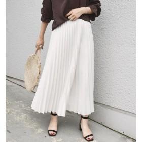 【シップス/SHIPS】 デニムライクプリーツスカート