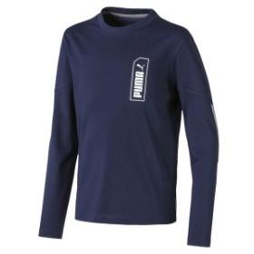 プーマ ジュニアスポーツウェア Tシャツ NU-TILITY LS Tシャツ 58097306 ボーイズ ピーコート