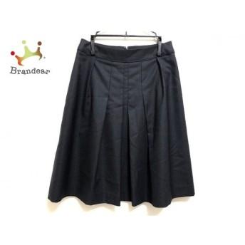 ニジュウサンク 23区 スカート サイズ36 S レディース 美品 ネイビー 新着 20190709
