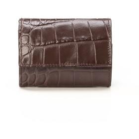 その他財布 - CRICKET クロコ型押し マティスラックス 三つ折り ウォレット グレージュ