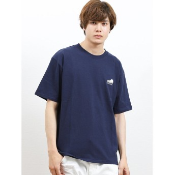【20%OFF】 タカキュー コンバース/CONVERSE 胸シューズサガラ刺繍半袖Tシャツ メンズ ネイビー L 【TAKA-Q】 【タイムセール開催中】