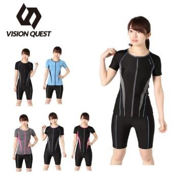 ビジョンクエスト VISION QUEST フィットネス水着 セパレート レディース 半袖セパレーツ VQ470206I03