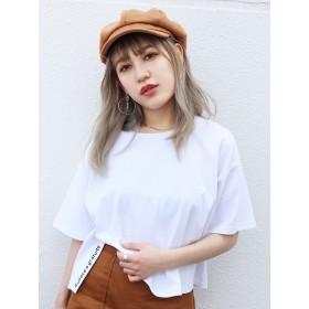 カットソー - EMODA サイドスリットロゴTシャツ