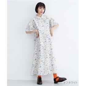 メルロー アンティパスト柄シャツワンピース レディース オフホワイト FREE 【merlot】