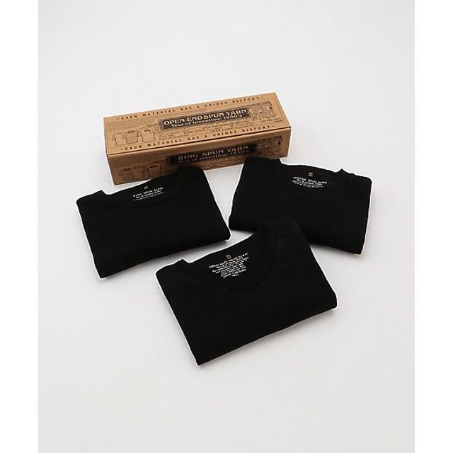 <ナイジェル ケーボン/NIGEL CABOURN> 3-PACK Tシャツ(80360021050) ブラック【三越・伊勢丹/公式】