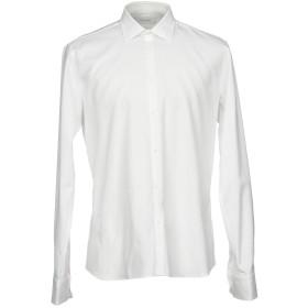 《期間限定 セール開催中》AGLINI メンズ シャツ ホワイト 39 コットン 100%