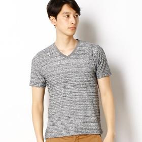 [マルイ]【セール】ミックスパイルVネック半袖Tシャツ/メンズメルローズ(MEN'S MELROSE)